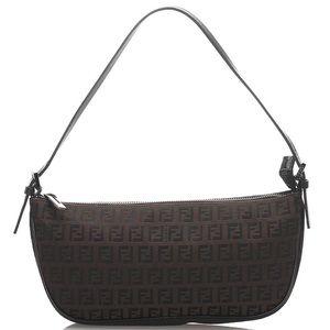 Authentic Fendi Shoulder Bag Baguette Pochette